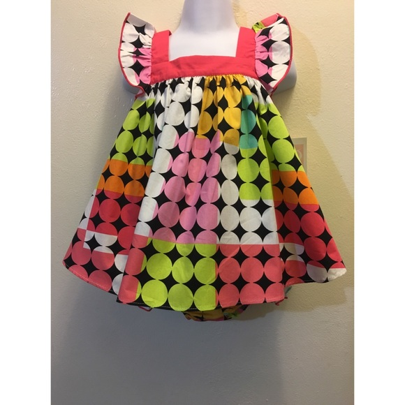 12M Baby Girls Bonnie Jean Floral Dot Sundress